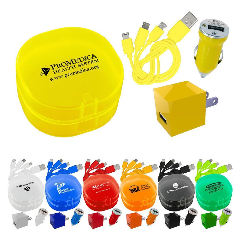 Carry All Travel Phone Charger Kit - Personalization Available