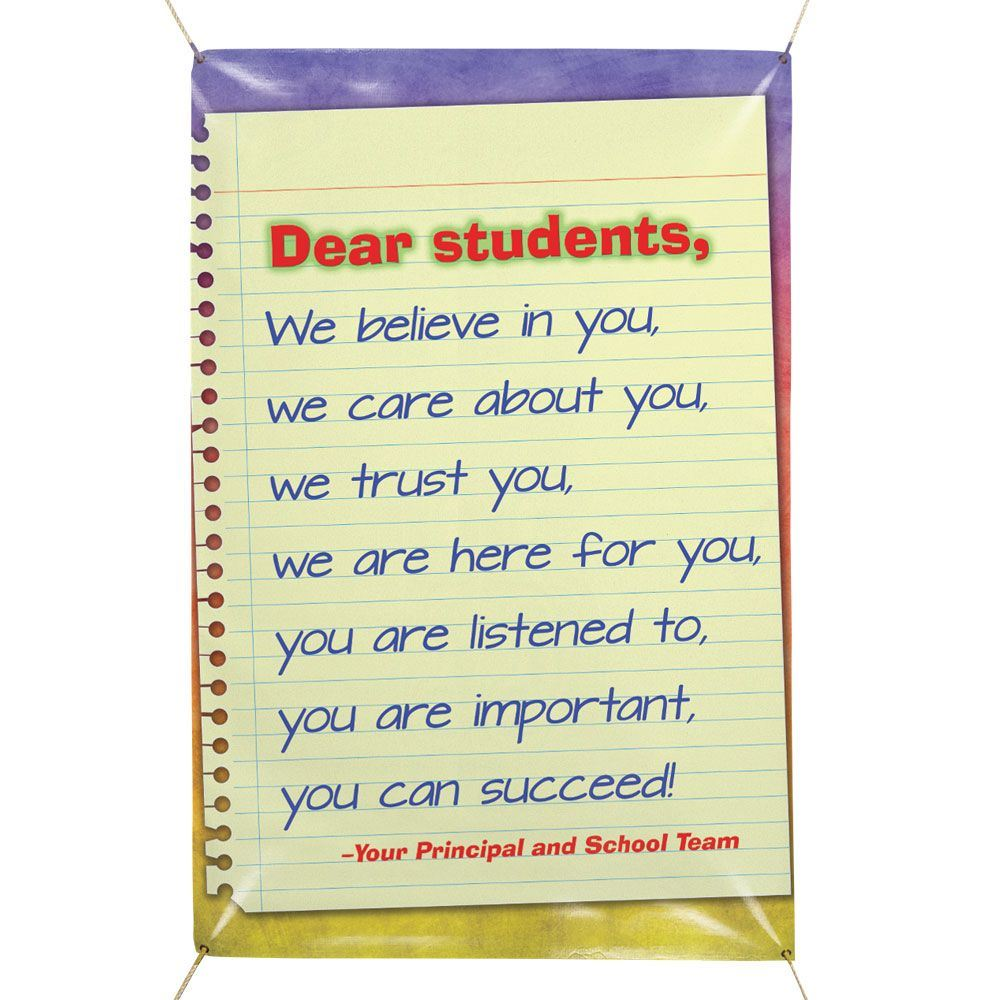 Dear Students 6' x 4' Vinyl School Banner