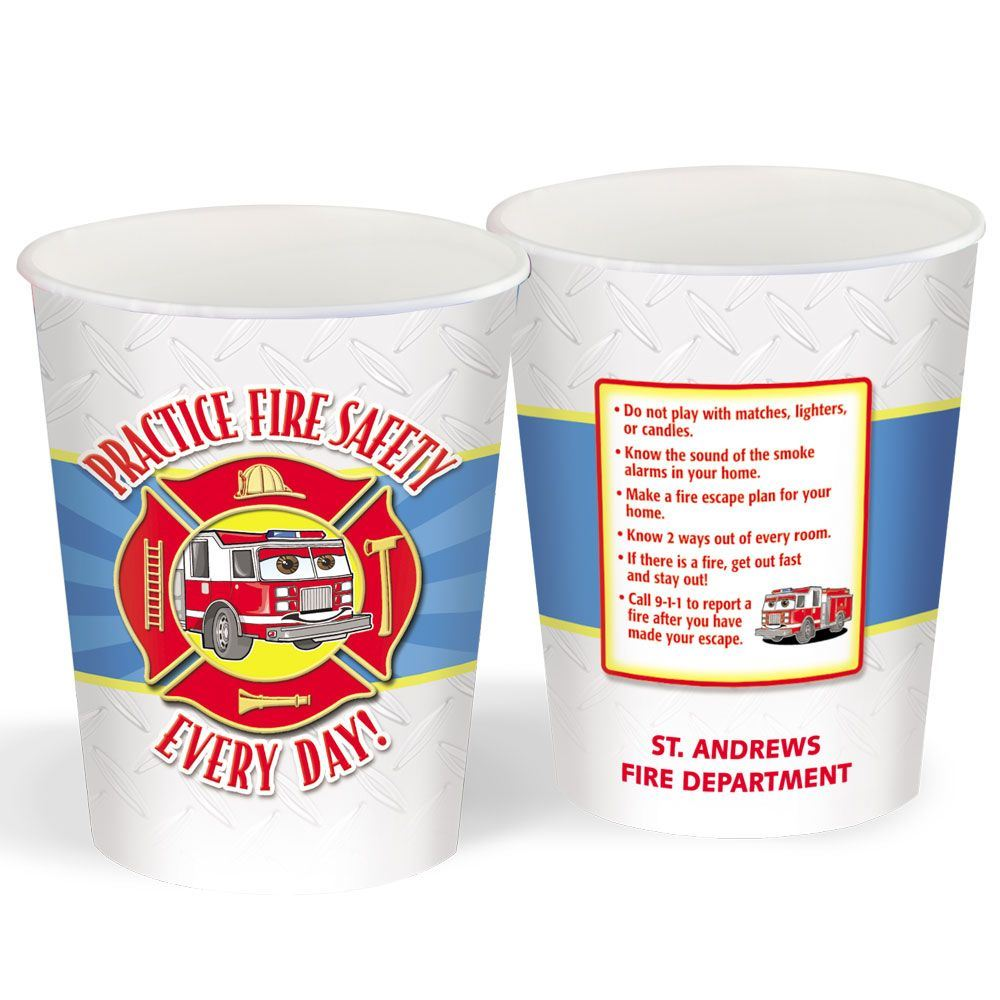 Fire Safety Personalized Stadium Cup 16-oz.