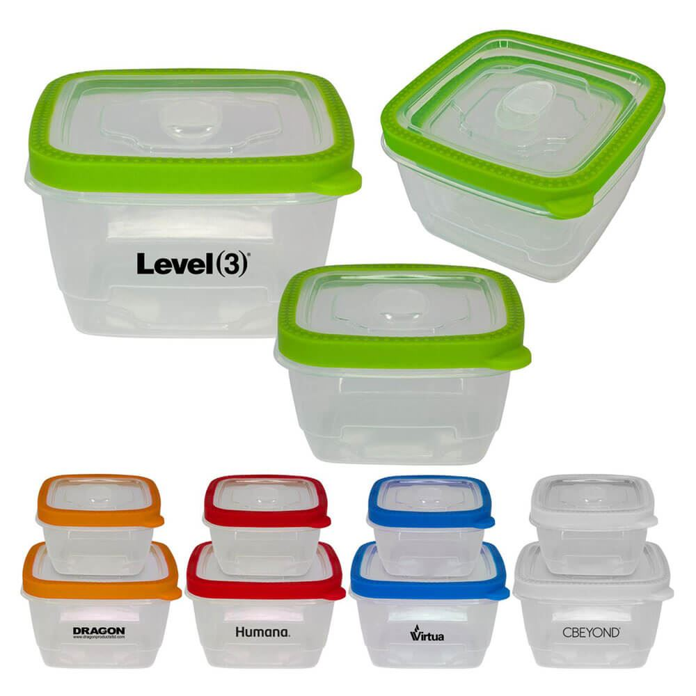 Nesting Seal-Tight Lunch Container Set - Personalization Available