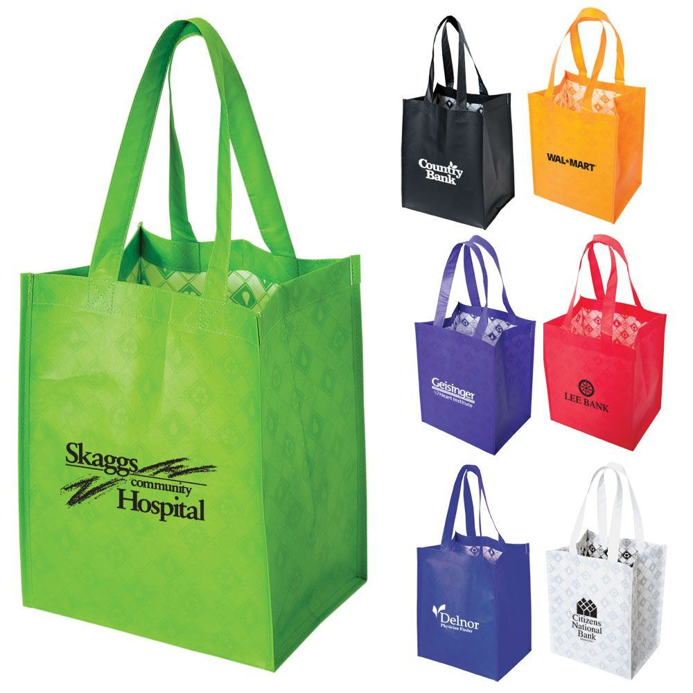 Mid-Size Laminated Shopper Tote - Personalization Available