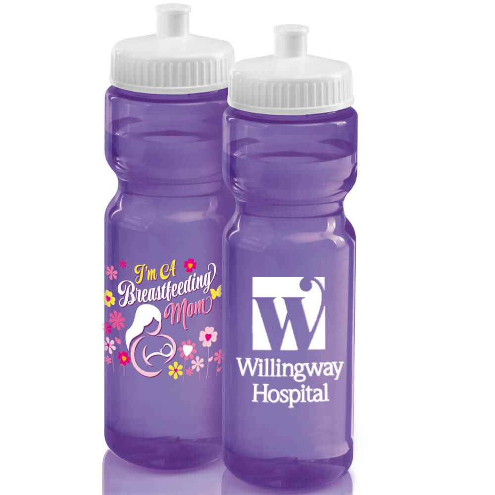 I'm A Breastfeeding Mom Full-Color Translucent Water Bottle 28-Oz. Plus Personalization