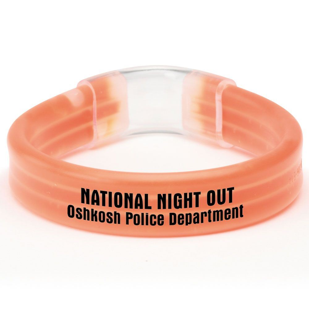 Wide 9 Inch Glow Bracelet - Personalization Available