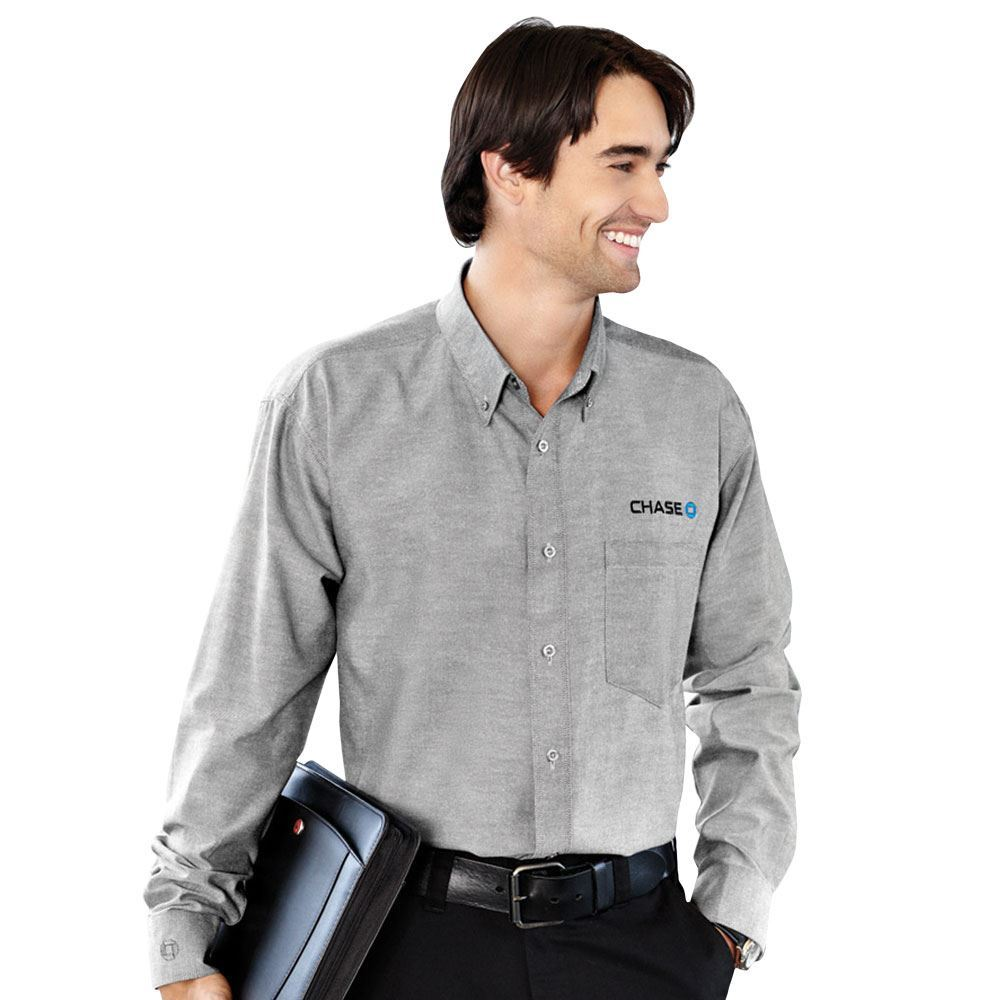 Men's Tulare Oxford Long Sleeve Shirt - Embroidery Personalization Available