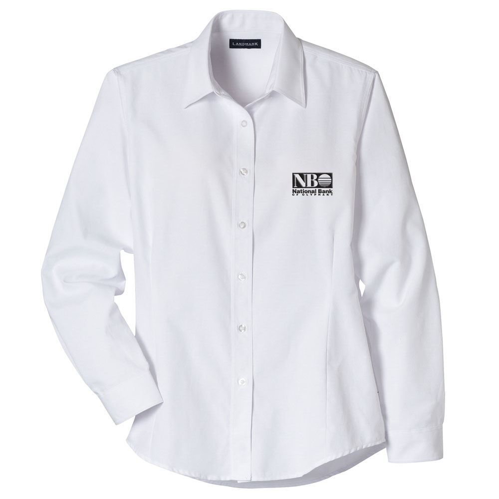 Women's Tulare Oxford Long Sleeve Shirt - Embroidery Personalization Available