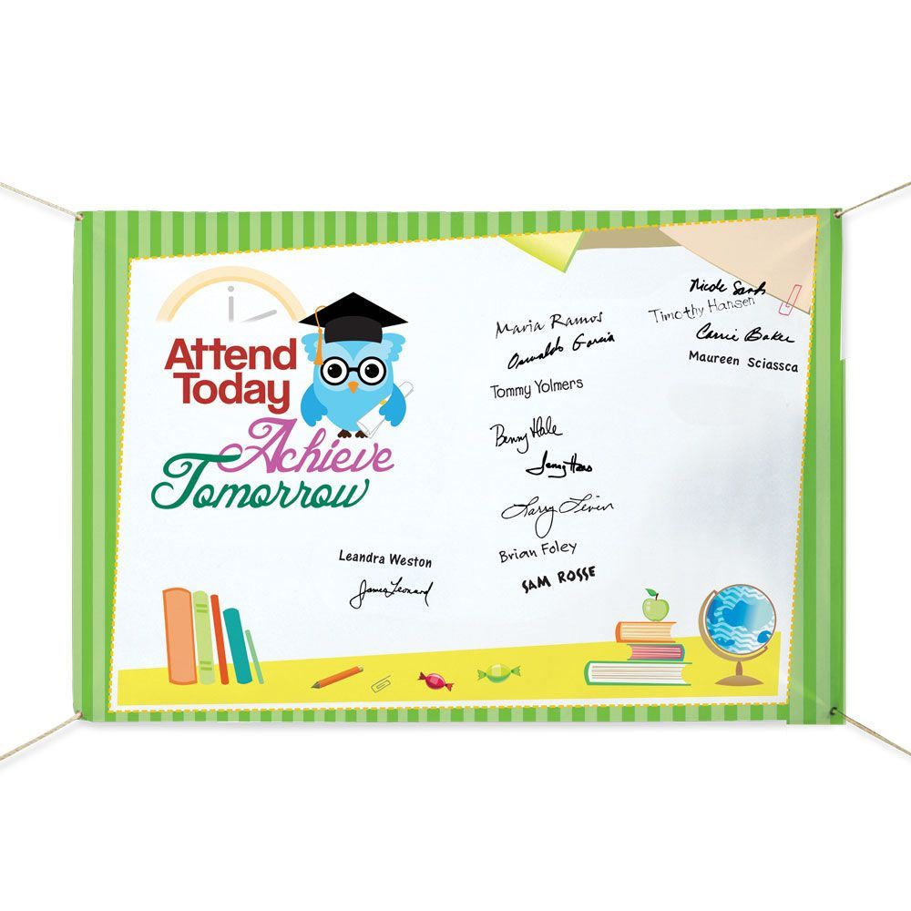 Attend Today, Achieve Tomorrow 5' x 3' Banner