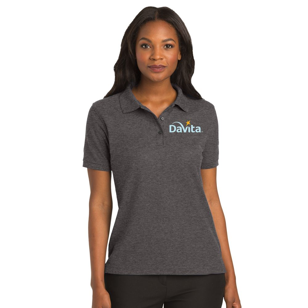Port Authority® Women's Silk Touch™ Short-Sleeve Polo - Personalization Available