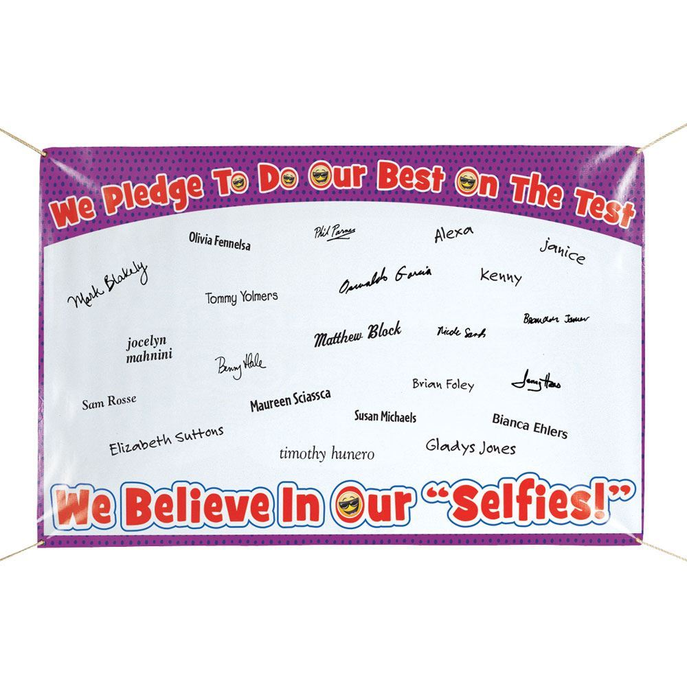 We Pledge To Do Our Best On The Test 5' x 3' Pledge Banner
