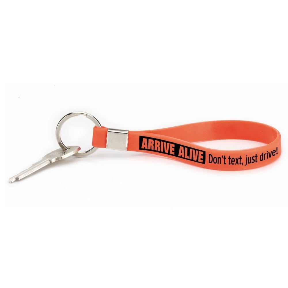 Arrive Alive: Don't Text, Just Drive! Key Tag Bracelet