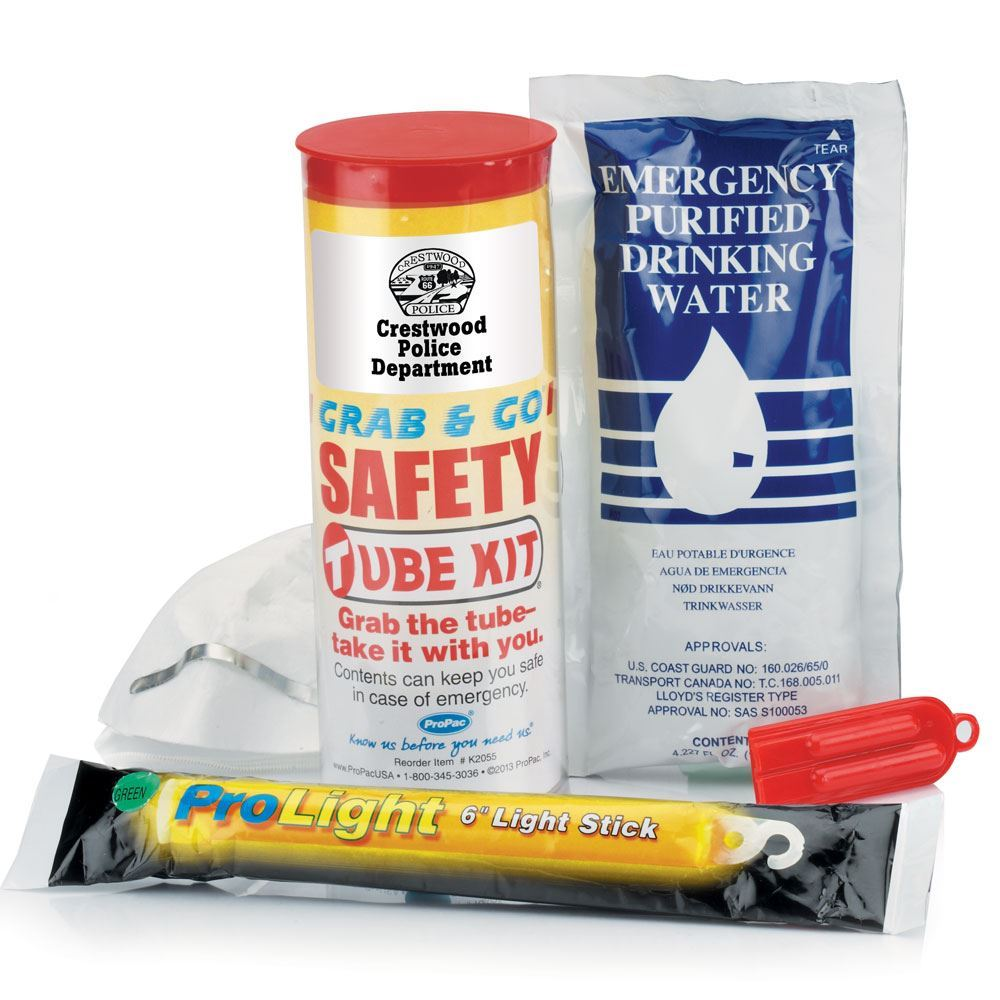 Grab & Go Emergency Safety Tube - Personalization Available