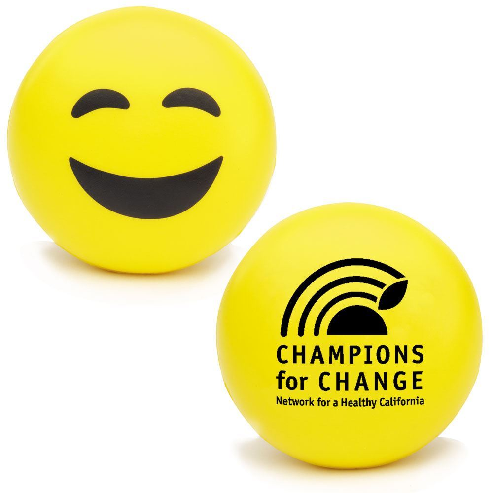Happy Face Emoji Squeezies® Stress Reliever - Personalization Available