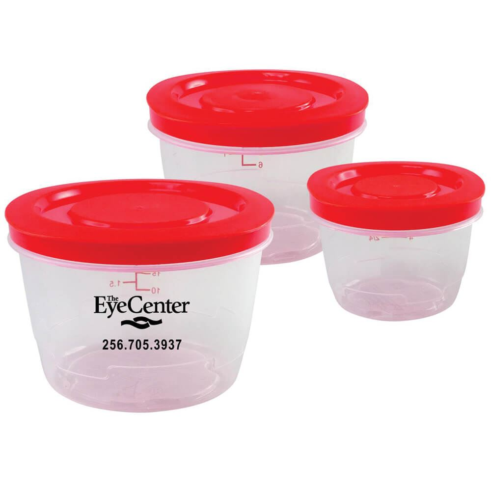 Round Portion Control Containers - Personalization Available