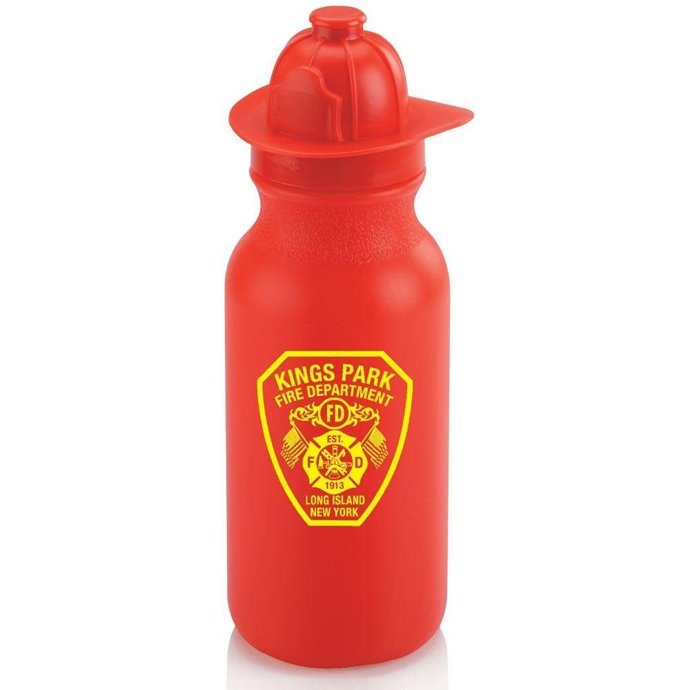 Fire Helmet Water Bottle 20-oz. - Personalization Available
