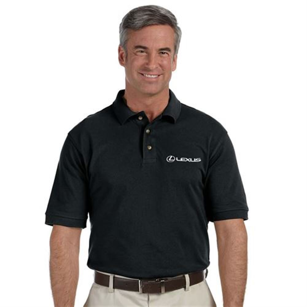 Harriton® Men's 6-oz. Ringspun Cotton Pique Short-Sleeve Polo - Embroidery Personalization Available