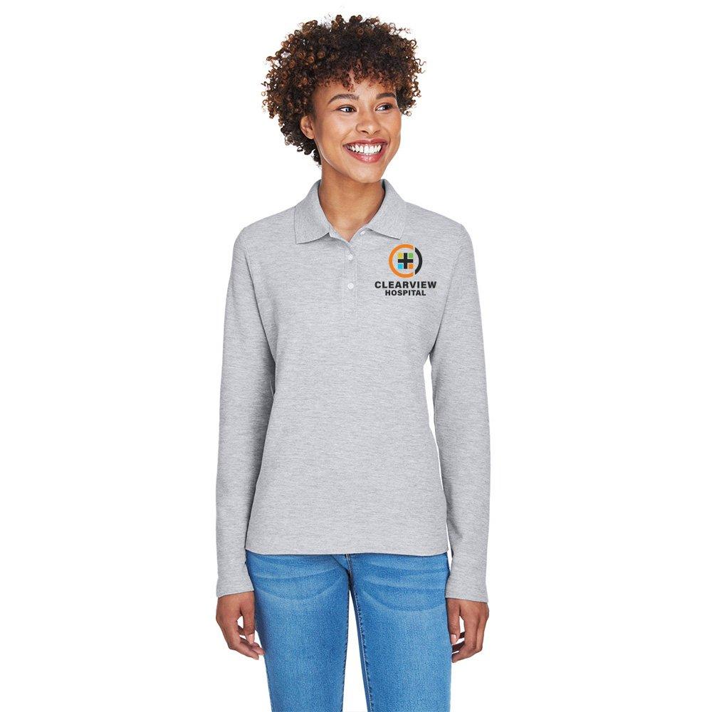 Devon Jones Women 39 S Pima Pique Long Sleeve Polo