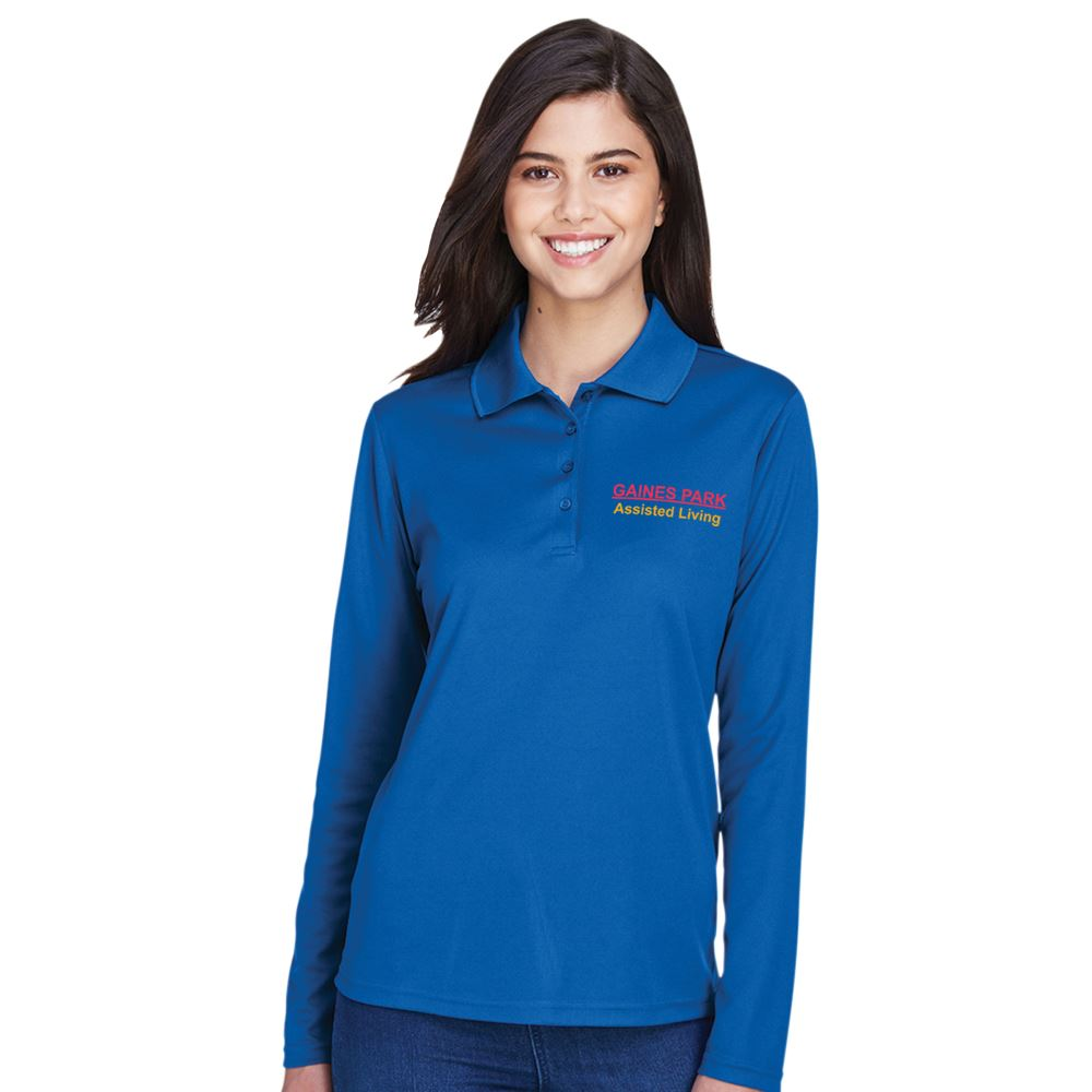 Core 365™ Women's Pinnacle Performance Long-Sleeve Pique Polo - Embroidery Personalization Available