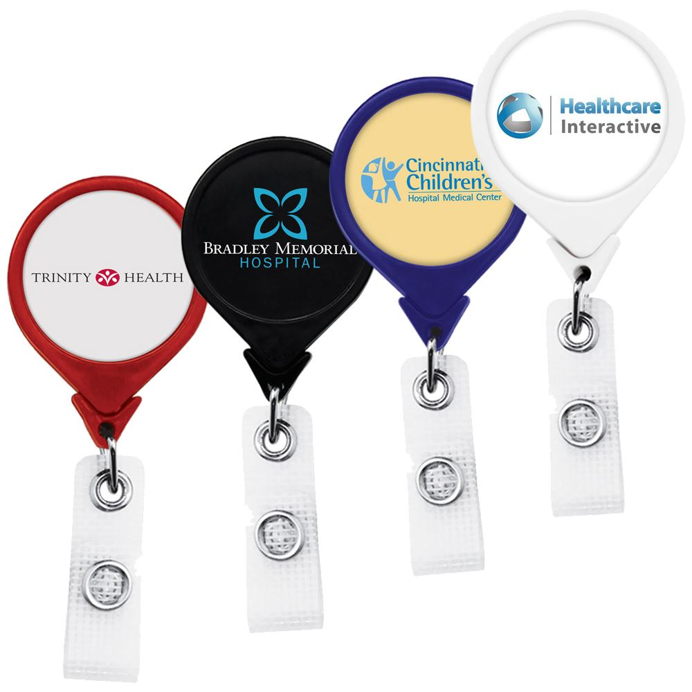 Jumbo Retractable Badge Reel with Antimicrobial Additive - Full Color Personalization Available