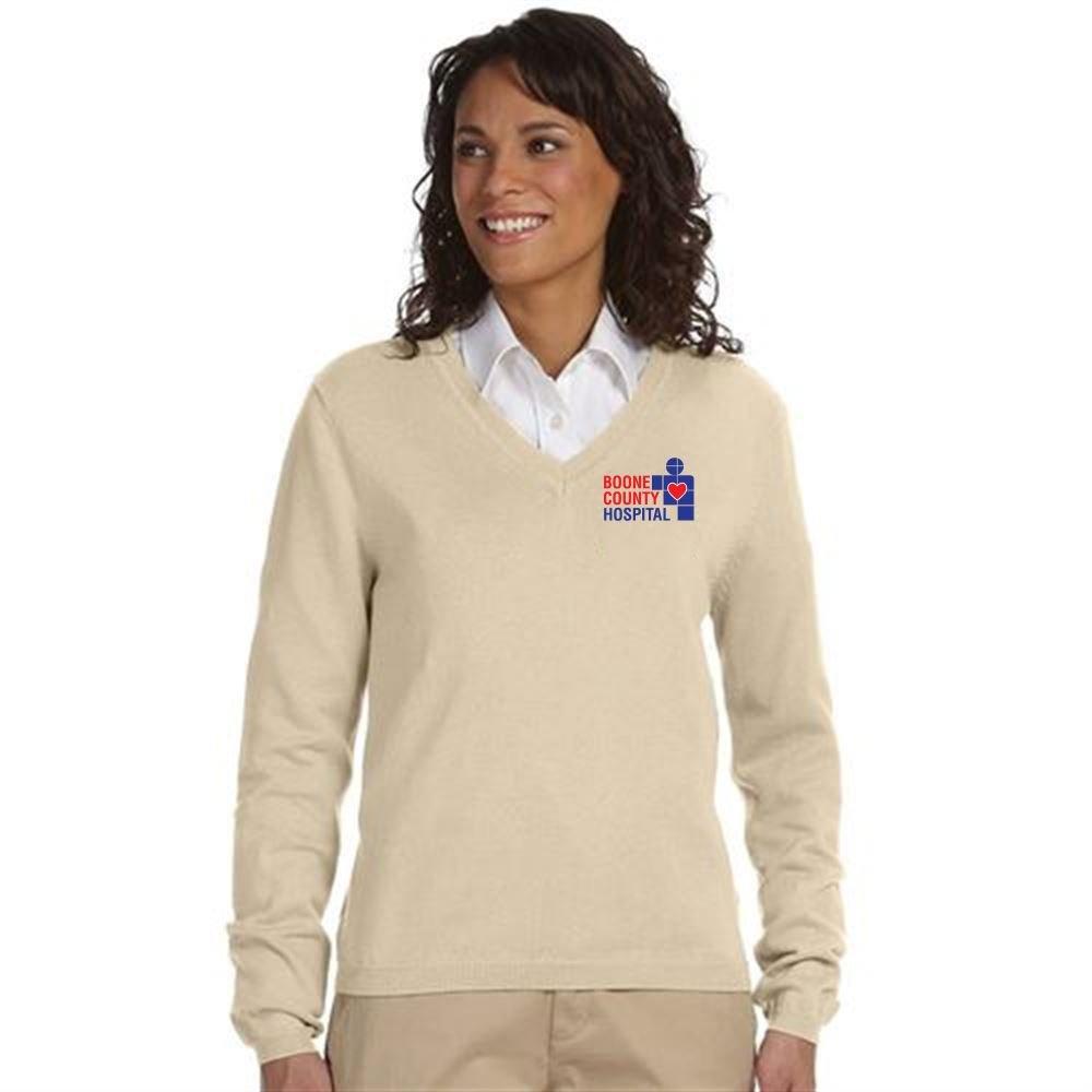 Devon & Jones® Women's V-Neck Sweater - Embroidery Personalization Available