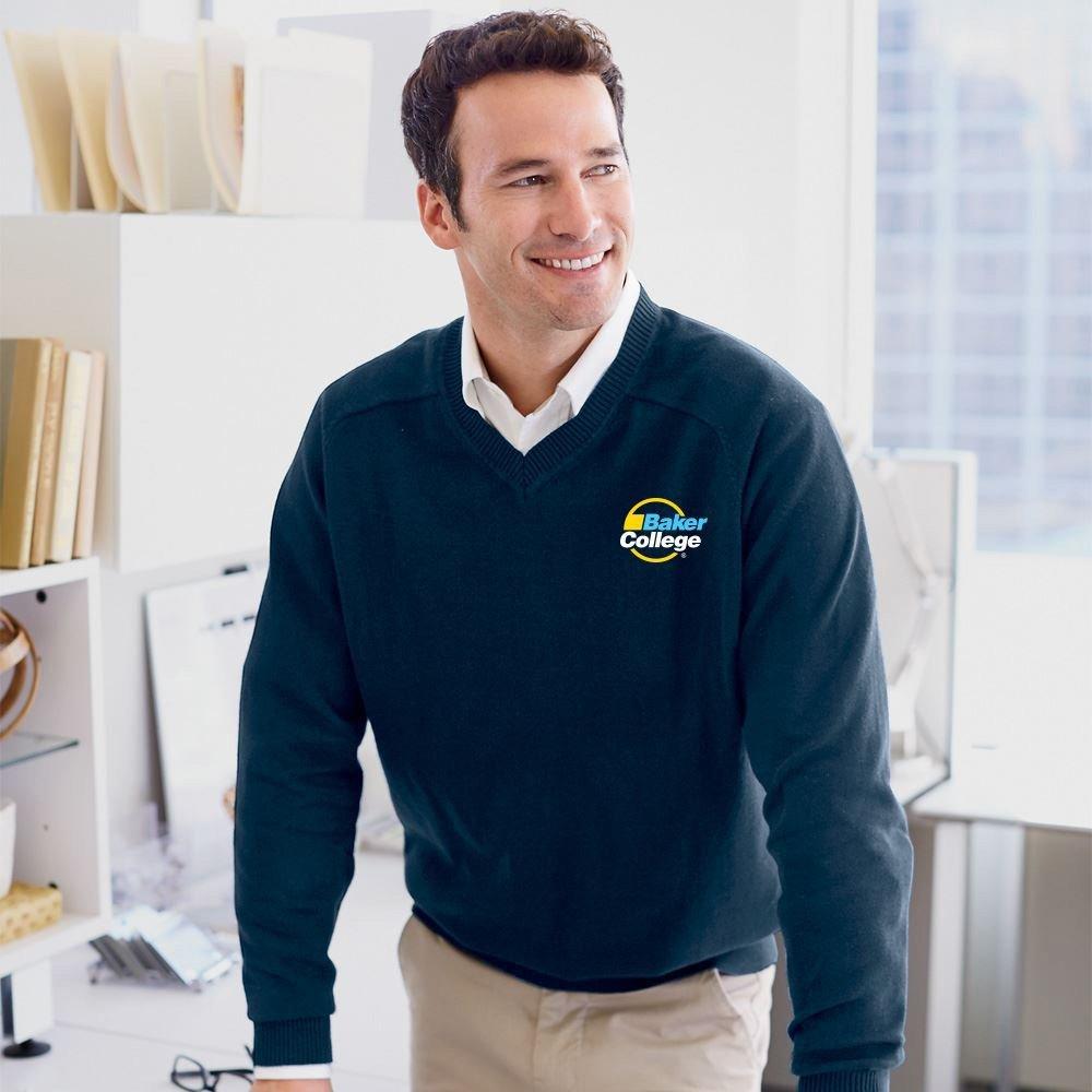 Devon & Jones® Men's V-Neck Sweater - Embroidery Personalization Available