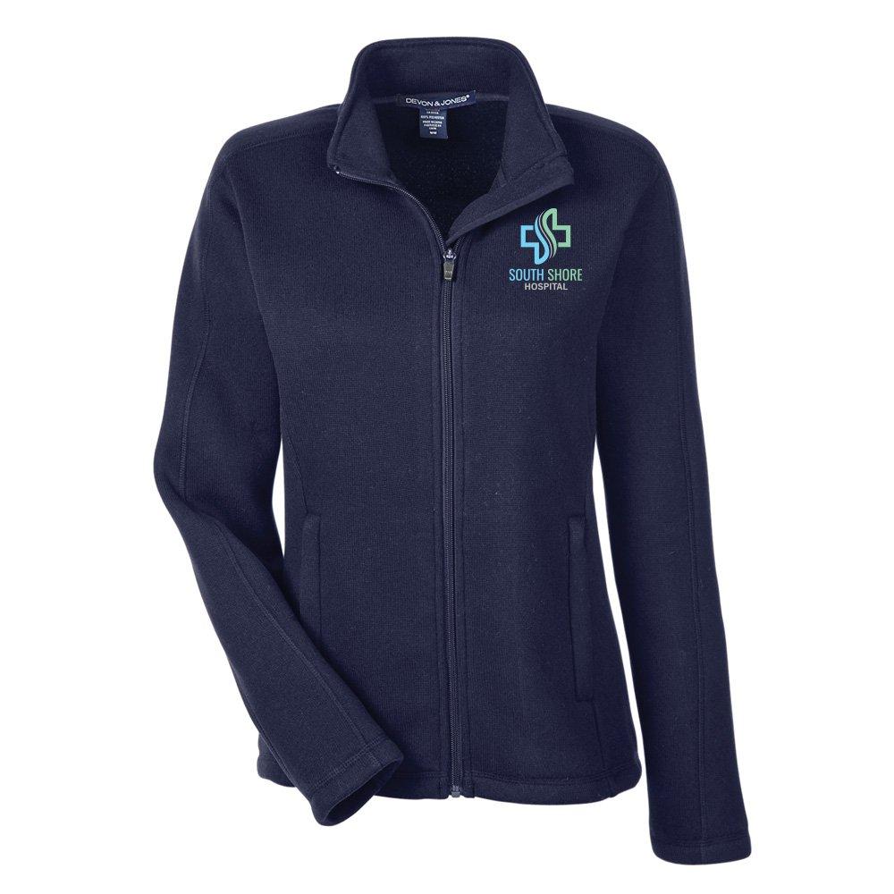 Devon & Jones® Women's Bristol Sweater Fleece Full-Zip - Embroidery Personalization Available