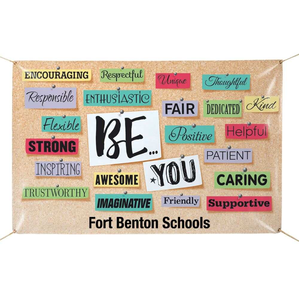 Be...You Full-Color Vinyl 5' x 3' Banner - Personalization Available
