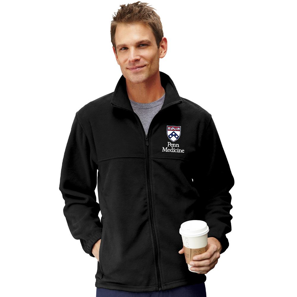 Harriton® Men's Full-Zip Fleece Jacket - Embroidery Personalization Available