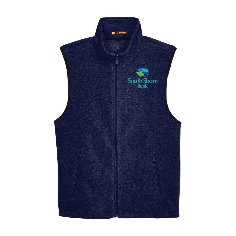Harriton® Full-Zip Fleece Vest - Embroidery Personalization Available