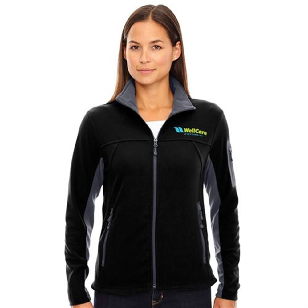 North End® Women's Microfleece Jacket - Embroidery Personalization Available