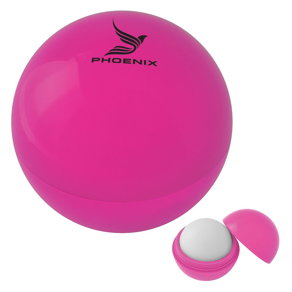 Pink Awareness Soft Touch Lip Balm Ball - Personalization Available