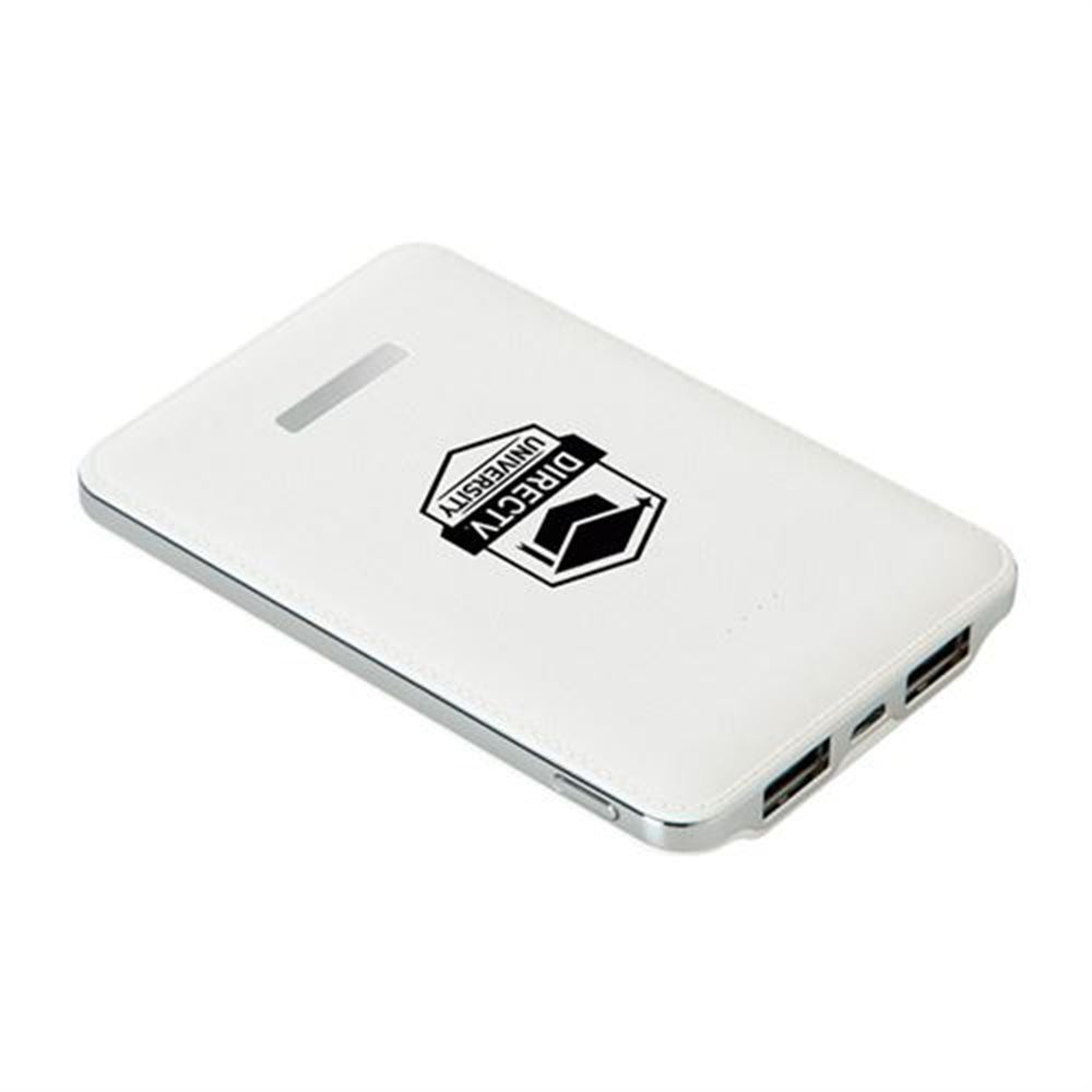 5,000 mAh Dual Port Power Bank - Personalization Available