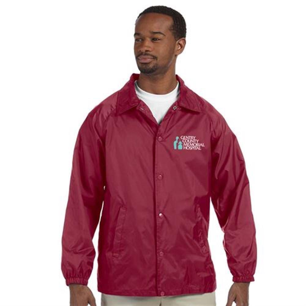 Harriton® Nylon Unisex Staff Jacket - Embroidery Personalization Available