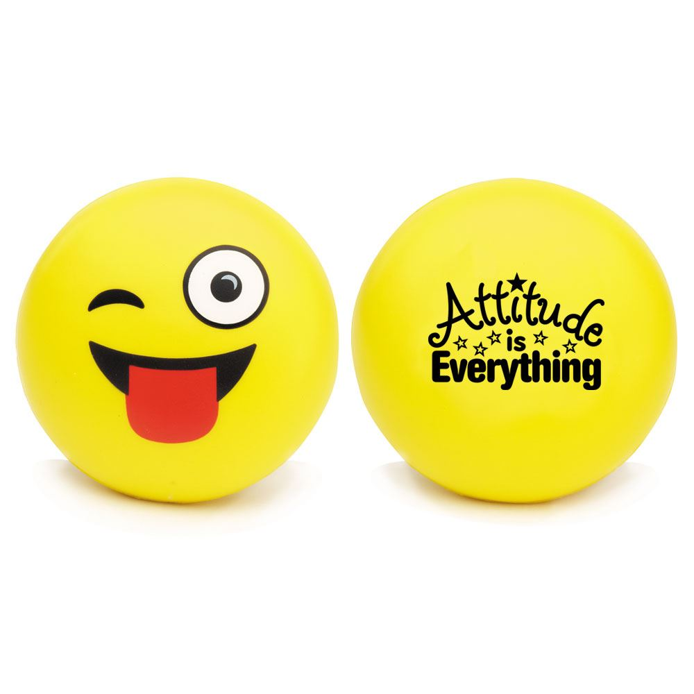 Attitude is Everything Wink Emoji Squeezies® Stress Reliever