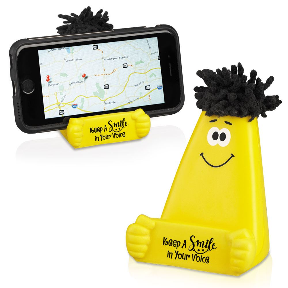 Keep A Smile In Your Voice MopTopper™ Phone Holder
