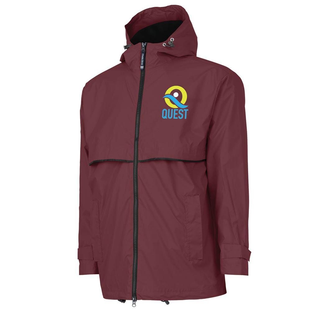 Charles River Apparel® Men's New Englander Rain Jacket - Embroidered Personalization Available