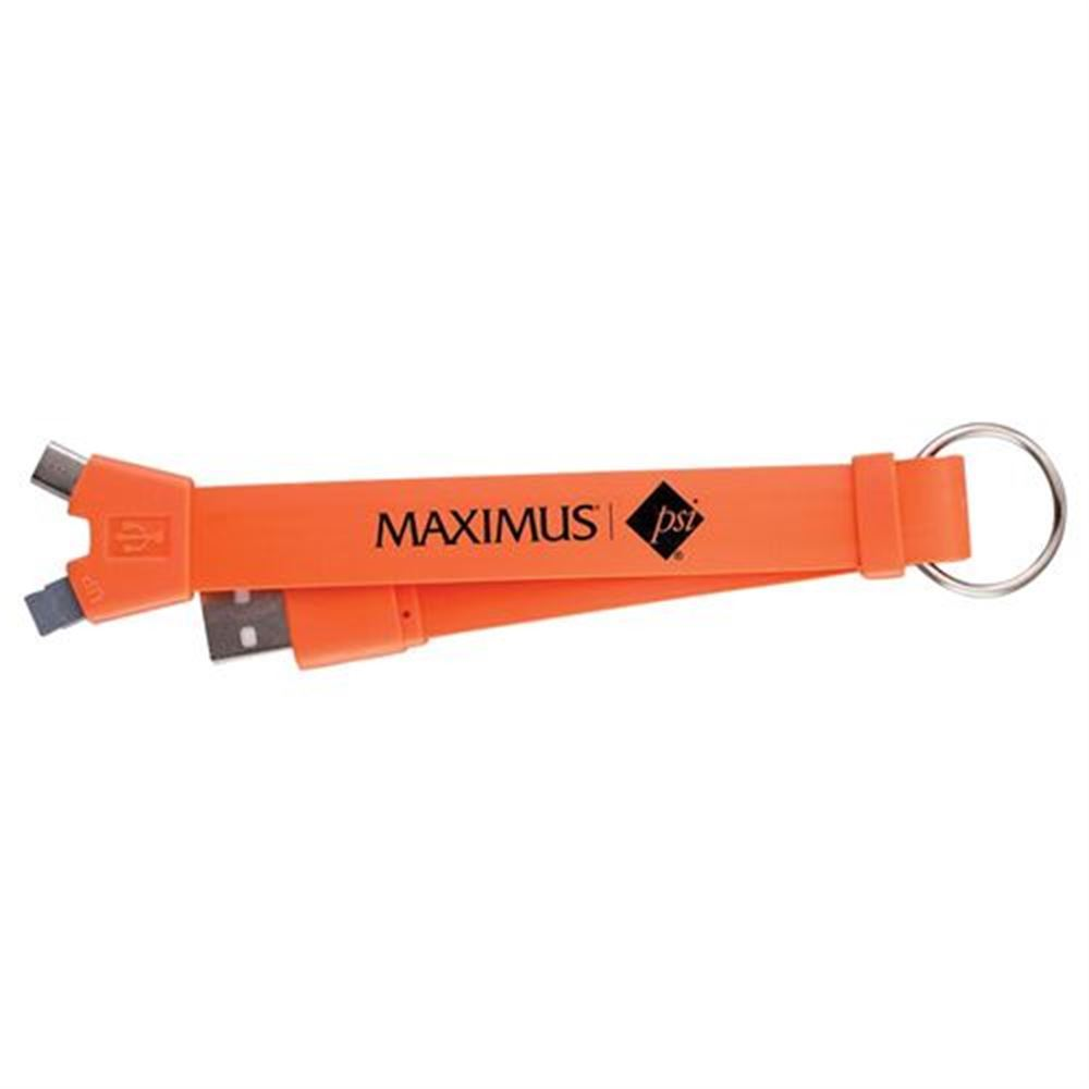 2-In-1 Keychain Charging Cable - Personalization Available