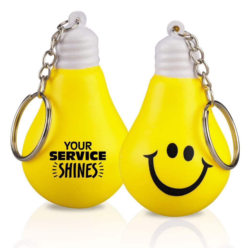 Your Service Shines Lightbulb Keychain