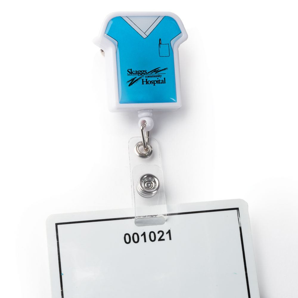 Medical Scrubs Retractable Badge Holder - Personalization Available