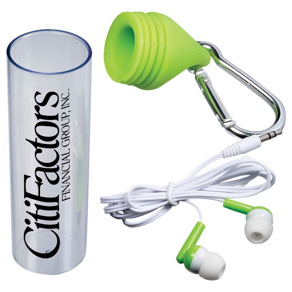 Carabiner Earbud Set - Personalization Available