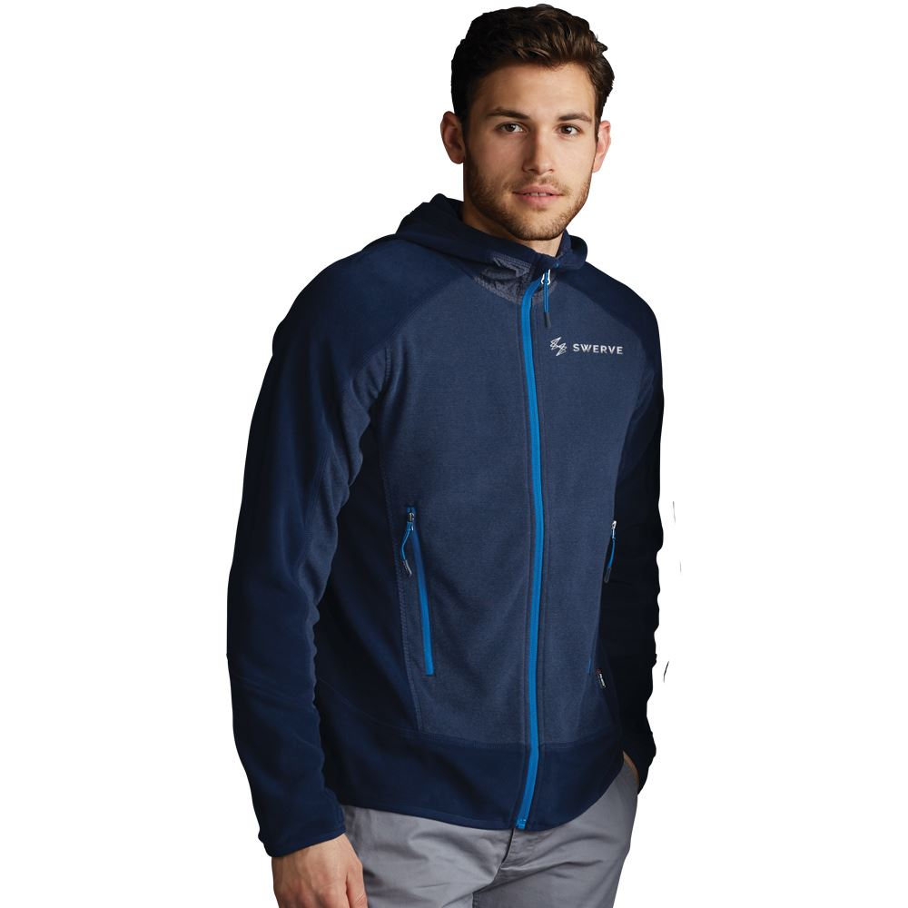 North End® Sport Polartec Men's Fleece Hooded Jacket - Embroidery Personalization Available