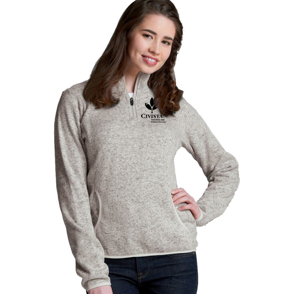 Charles River Apparel® Women's Heathered Fleece Pullover - Embroidery Personalization Available