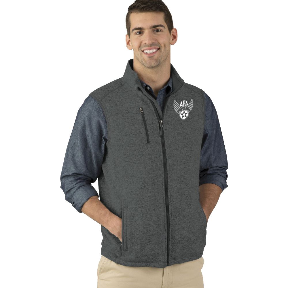 Charles River Apparel® Men's Heathered Fleece Vest - Embroidery Personalization Available