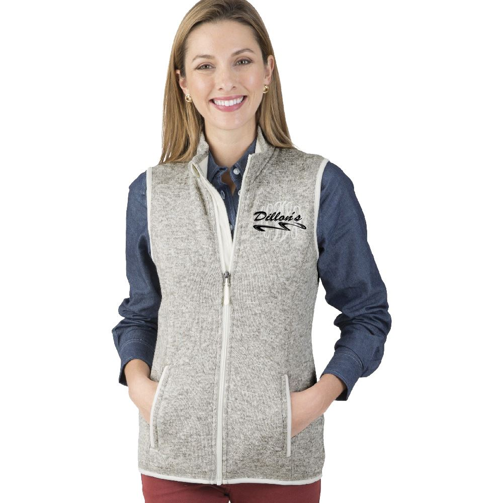 Charles River Apparel® Women's Heathered Fleece Vest - Embroidery Personalization Available