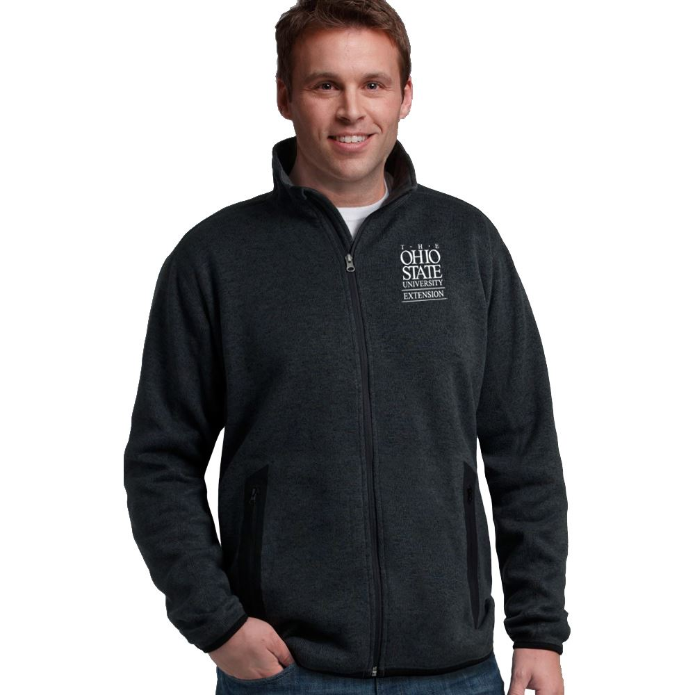 Charles River Apparel® Men's Heathered Fleece Jacket - Embroidered Personalization Available