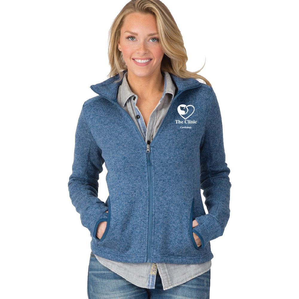 Charles River Apparel® Women's Heathered Fleece Jacket - Embroidered Personalization Available
