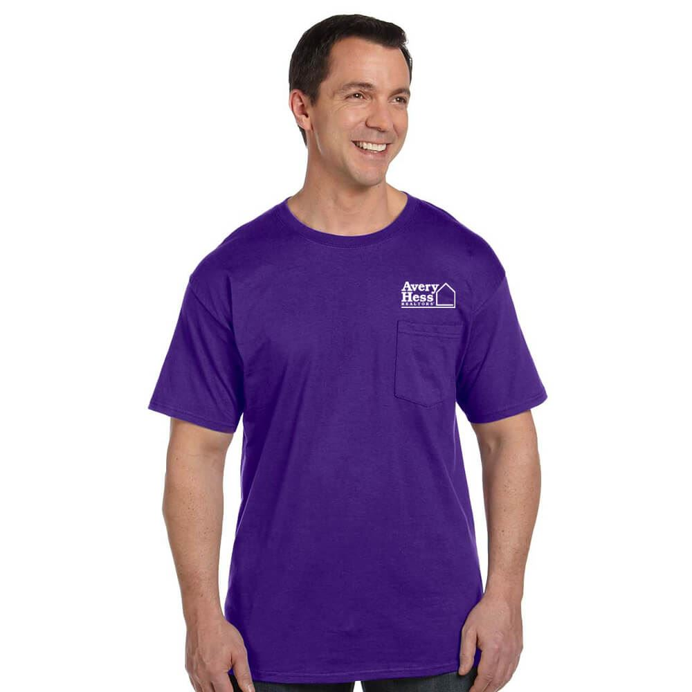 Hanes® Unisex 6.1 oz. Beefy-T® With Pocket - Personalization Available