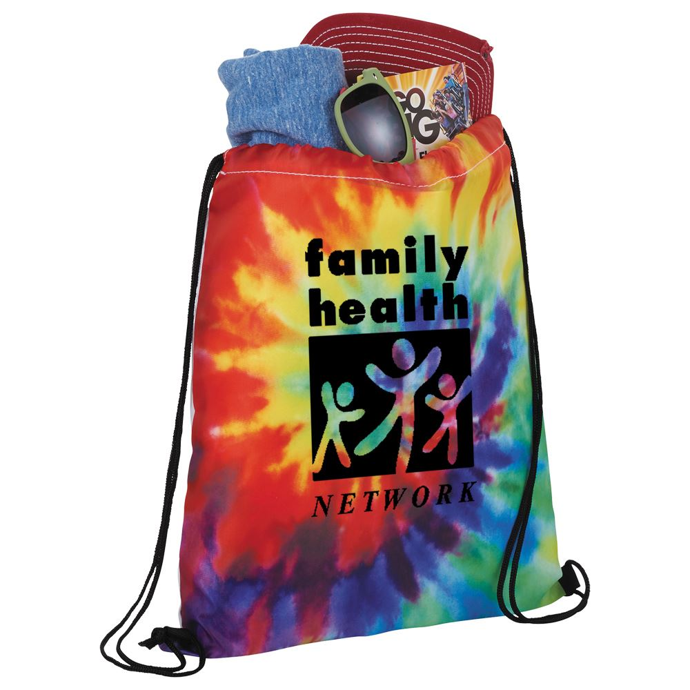 Tie Dye Drawstring Sportspack - Personalization Available