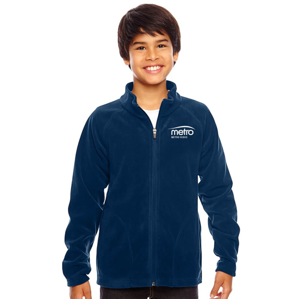 Team 365® Youth  Campus Microfleece Jacket - Personalization Available