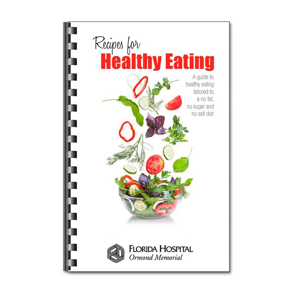 Recipes For Healthy Eating Cookbook - Personalization Available