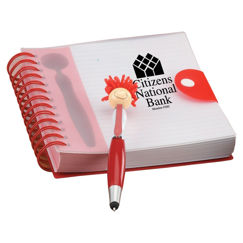 MopTopper™ Stylus Pen & Notebook - Personalization Available