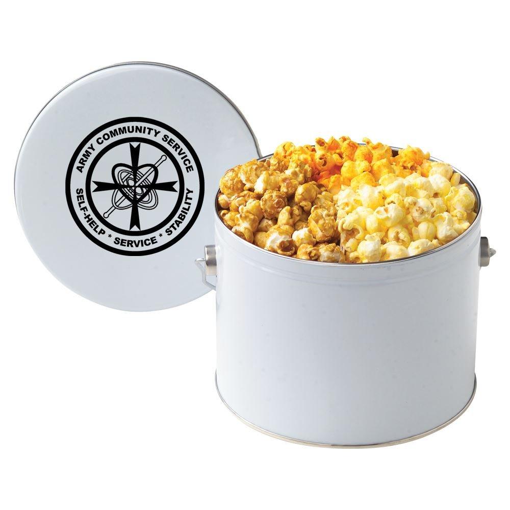 Half-Gallon Gourmet 3-Way Popcorn Tin - Personalization Available